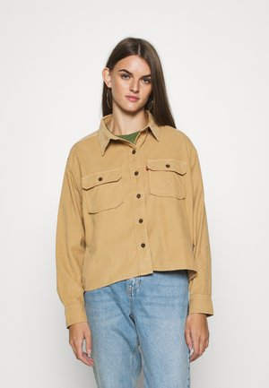 OLSEN UTILITY - Button-down blouse - iced coffee