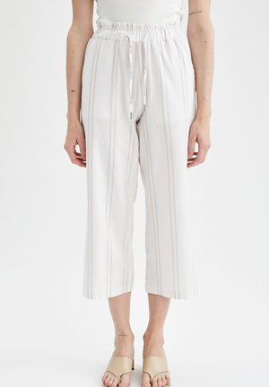 WIDE LEG  - Spodnie materiałowe - ecru