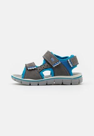 Sandals - grigo scuro/azzurro