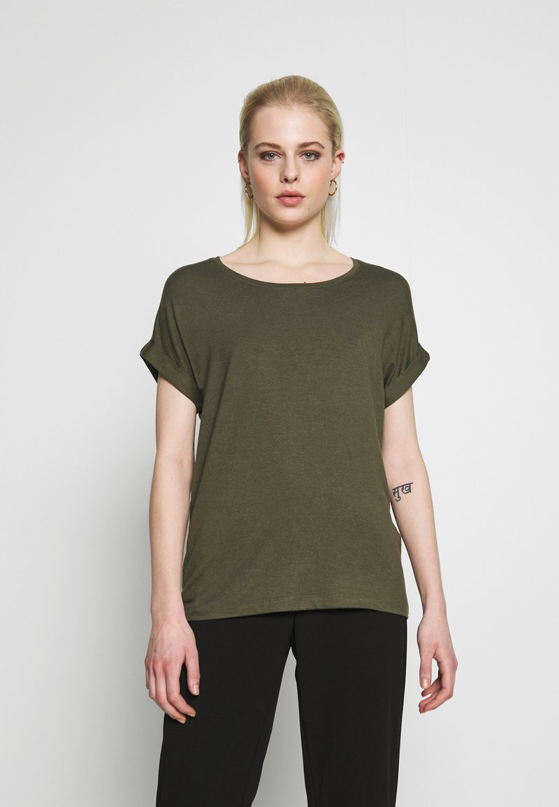 ONLY - ONLMOSTER ONECK - T-shirts - grape leaf