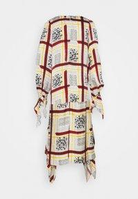 Mother of Pearl - NECK DRESS WITH TIE CUFFS - Vapaa-ajan mekko - burgandy / check - 3