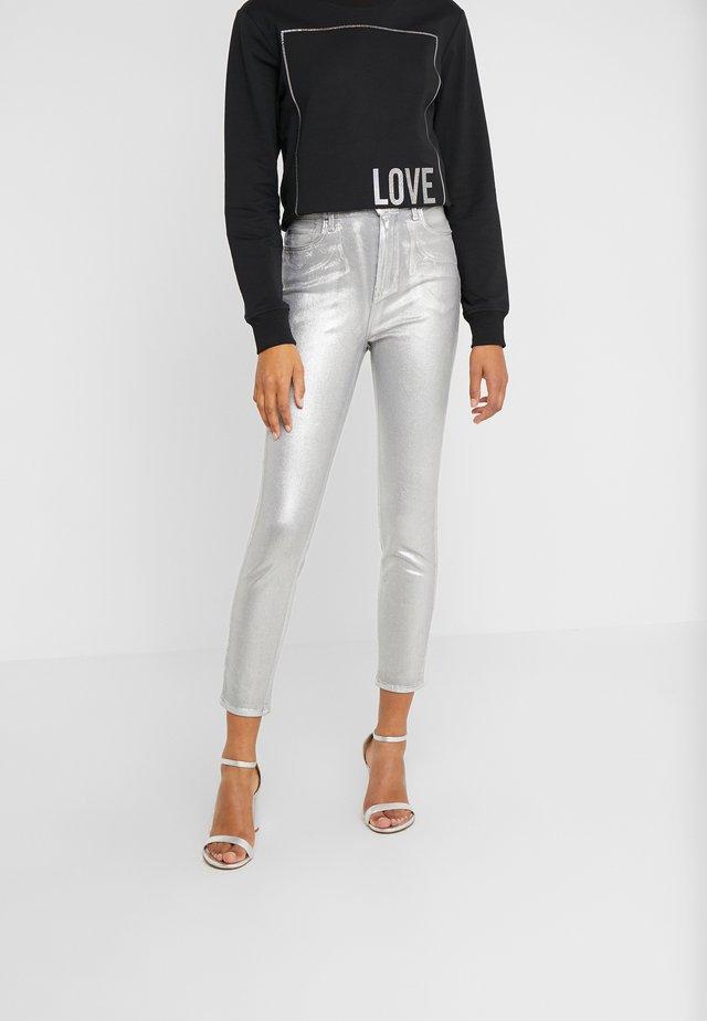 SUSAN  - Jeans Skinny Fit - argento metallizzato