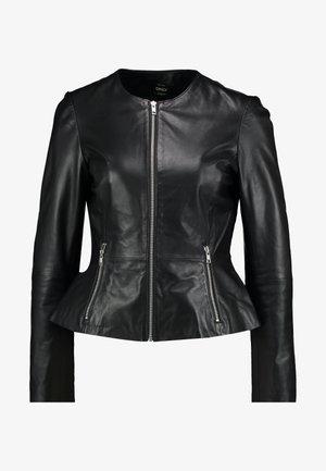 ONLLENA JACKET PEPLUM - Kožená bunda - black