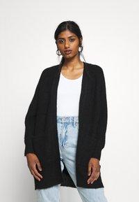 Selected Femme Petite - SLFLULU LONG CARD  - Cardigan - black - 0