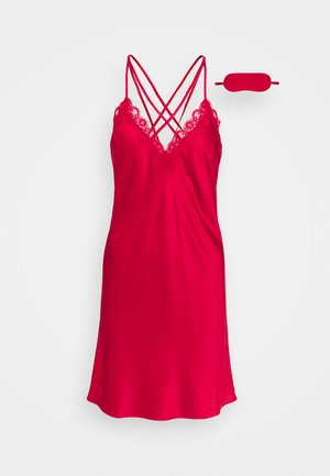 GIFT SET - Nightie - dark red