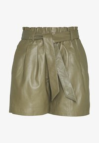 Object - OBJSTAR - Pantalón de cuero - burnt olive - 3
