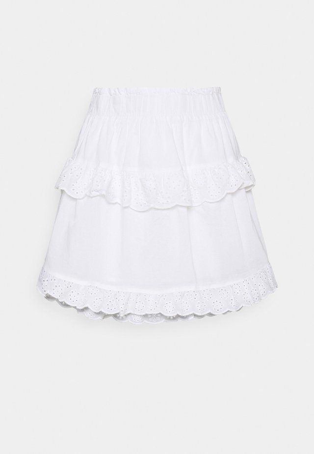 PCLOUDRES SKIRT  - Spódnica mini - cloud dancer