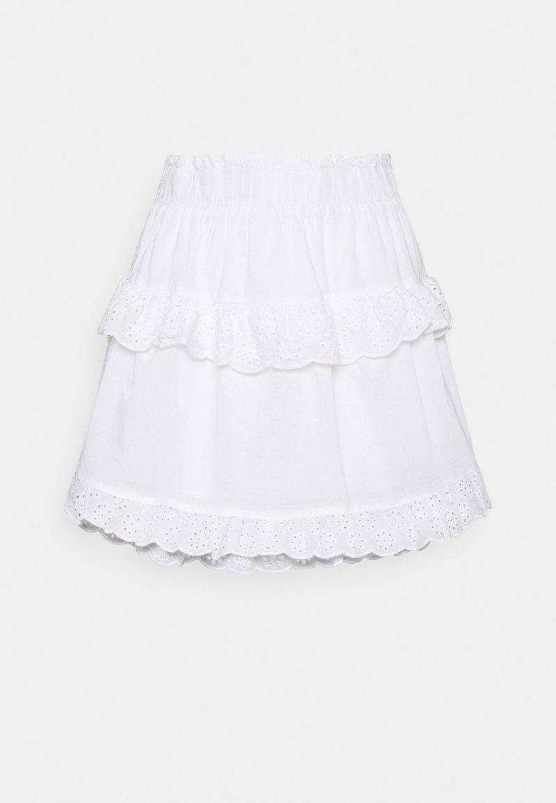 Pieces - PCLOUDRES SKIRT  - Mini skirt - cloud dancer