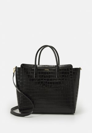 LARGE CROC EMBOSS TYLER - Tote bag - black