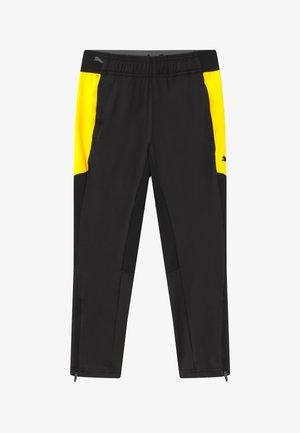 Tracksuit bottoms - black/ultra yellow