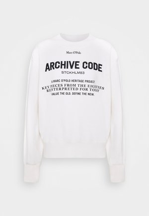 OVERSIZED, LONG SLEEVE, HIGH NECK, PLACED PRINT - Mikina - off white