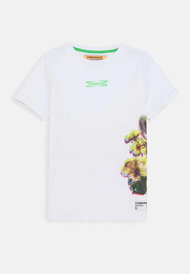 HAMIM - T-shirt z nadrukiem - real white