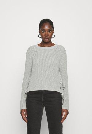 EYELET - Pullover - grey melange