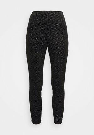 GLITTER DYNASTY TROUSER - Trousers - black