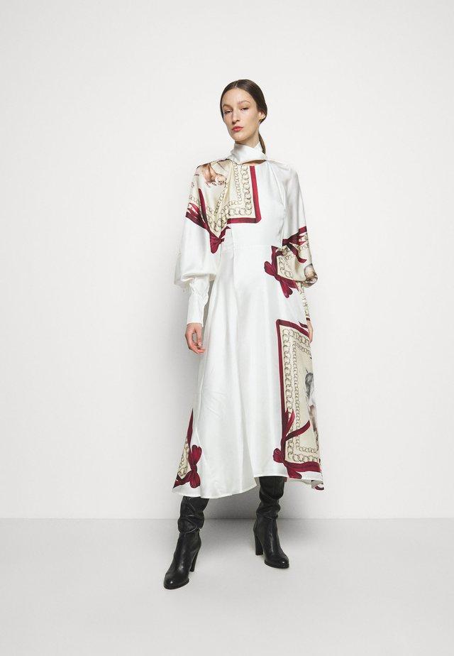 DRAPED SLEEVE DRESS - Occasion wear - cream/bordeaux