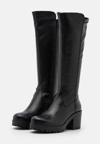 Tamaris - BOOTS - Platåstøvler - black - 2