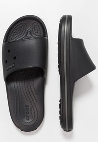 Crocs - CROCBAND III  - Pool slides - black/graphite - 1