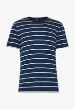 SOFT TOUCH - T-shirt z nadrukiem - french navy/white