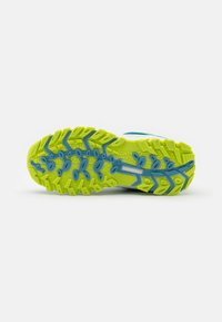 TrollKids - KIDS SANDEFJORD LOW UNISEX - Hiking shoes - dolphin blue/lime - 4
