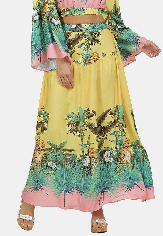 Veckad kjol - tropical print