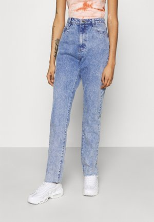LONGER LENGTH RAW HEM WRATH - Džíny Straight Fit - blue