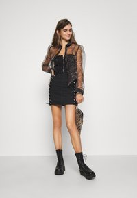Topshop - FRILL MILKMAID CORSET - Top - washed black - 1