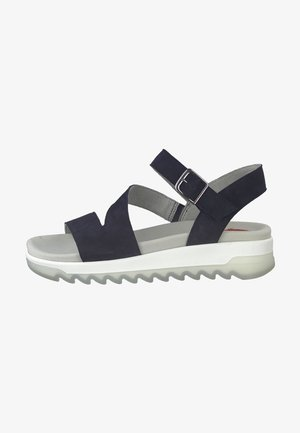Sandały na platformie - navy