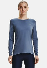 Under Armour - UA ARMOUR LONG SLEEVE - Long sleeved top - mineral blue - 0