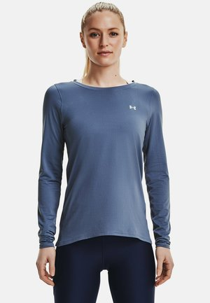 UA ARMOUR LONG SLEEVE - Long sleeved top - mineral blue