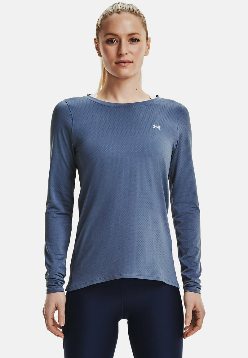 Under Armour - UA ARMOUR LONG SLEEVE - Long sleeved top - mineral blue