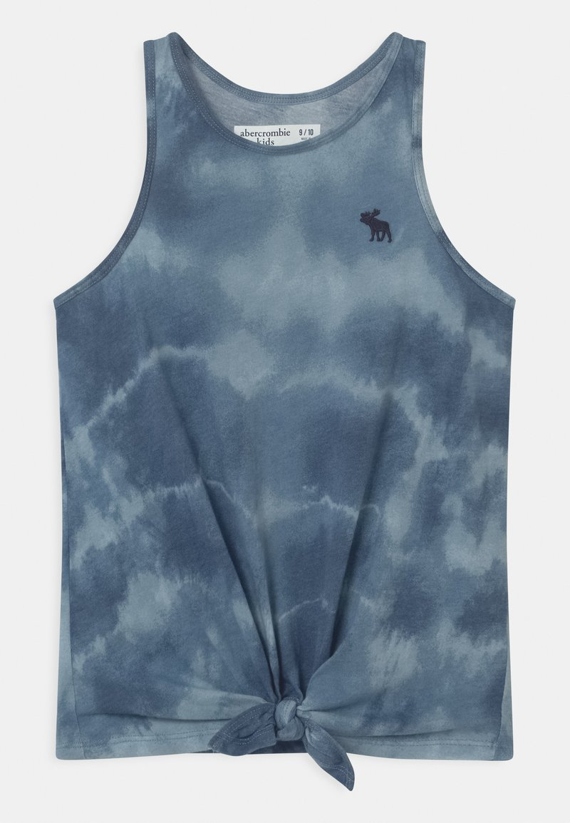 Abercrombie & Fitch - KNOT FRONT  - Top - blue