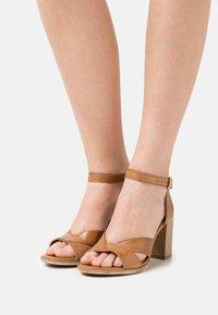 Anna Field - LEATHER - High heeled sandals - light brown - 0