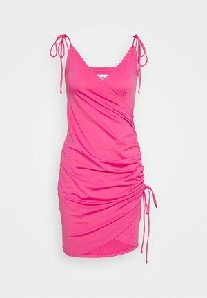 SIDE DRAPE DRESS - Kjole - pink
