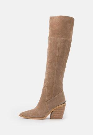 Over-the-knee boots - beige