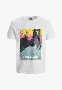 Jack & Jones - JCOBLADE TEE CREW NECK - Print T-shirt - white - 5