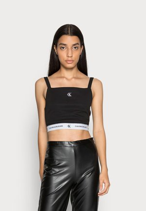 CROP WITH TAPE - Top - black