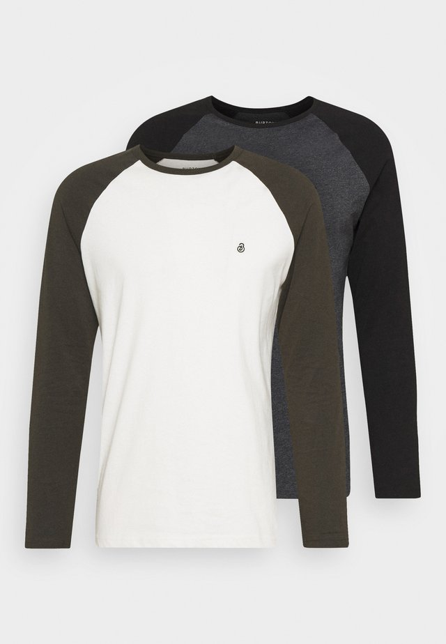 LONG SLEEVE RAGLAN 2 PACK - Topper langermet - grey marl