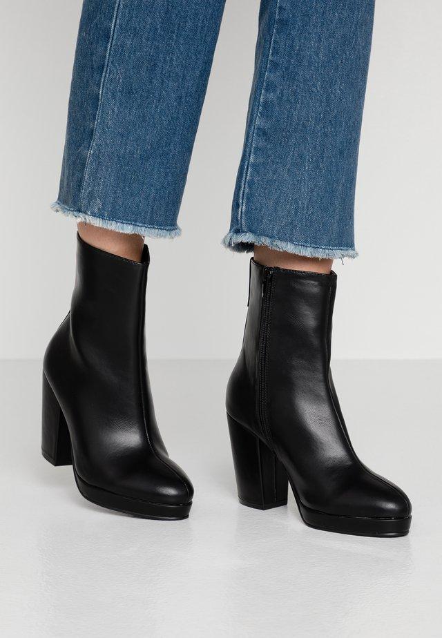 DANIQUE PLATFORM BOOT - High heeled ankle boots - black