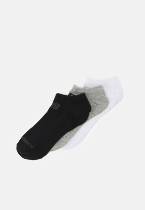 NO SHOW FLAT 3 PACK UNISEX - Sportsokken - black/grey