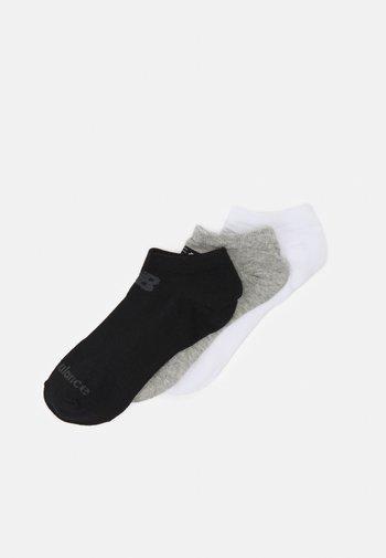 NO SHOW FLAT 3 PACK UNISEX - Calcetines de deporte - black/grey