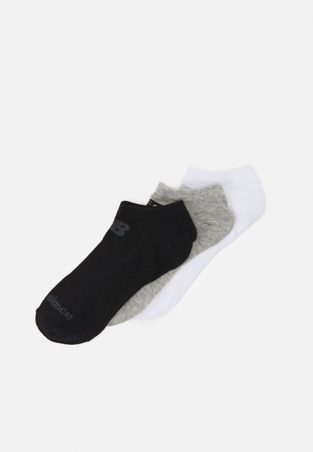 NO SHOW FLAT 3 PACK UNISEX - Träningssockor - black/grey