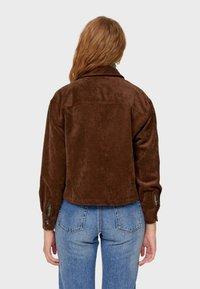 Stradivarius - Summer jacket - dark brown - 2