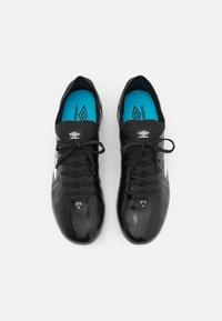 Umbro - VELOCITA VI PREMIER FG - Moulded stud football boots - black/white/cyan blue - 3