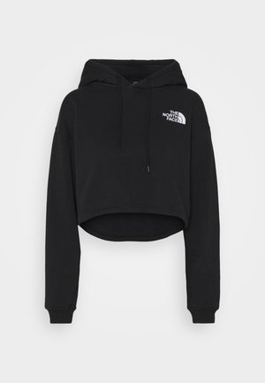 TREND CROP DROP HOODIE - Sweater - black