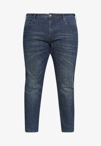 TOM TAILOR MEN PLUS - 5 POCKET  - Slim fit jeans - dark stone wash - 3