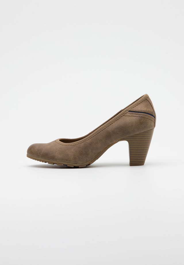 COURT SHOE - Classic heels - pepper