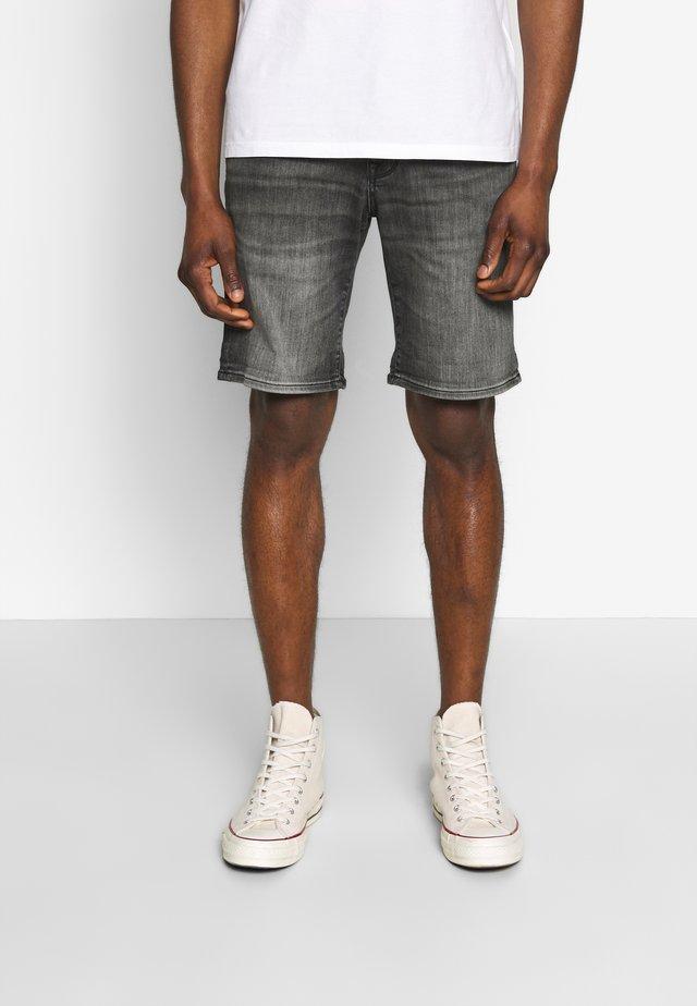 SLHALEX - Denim shorts - grey
