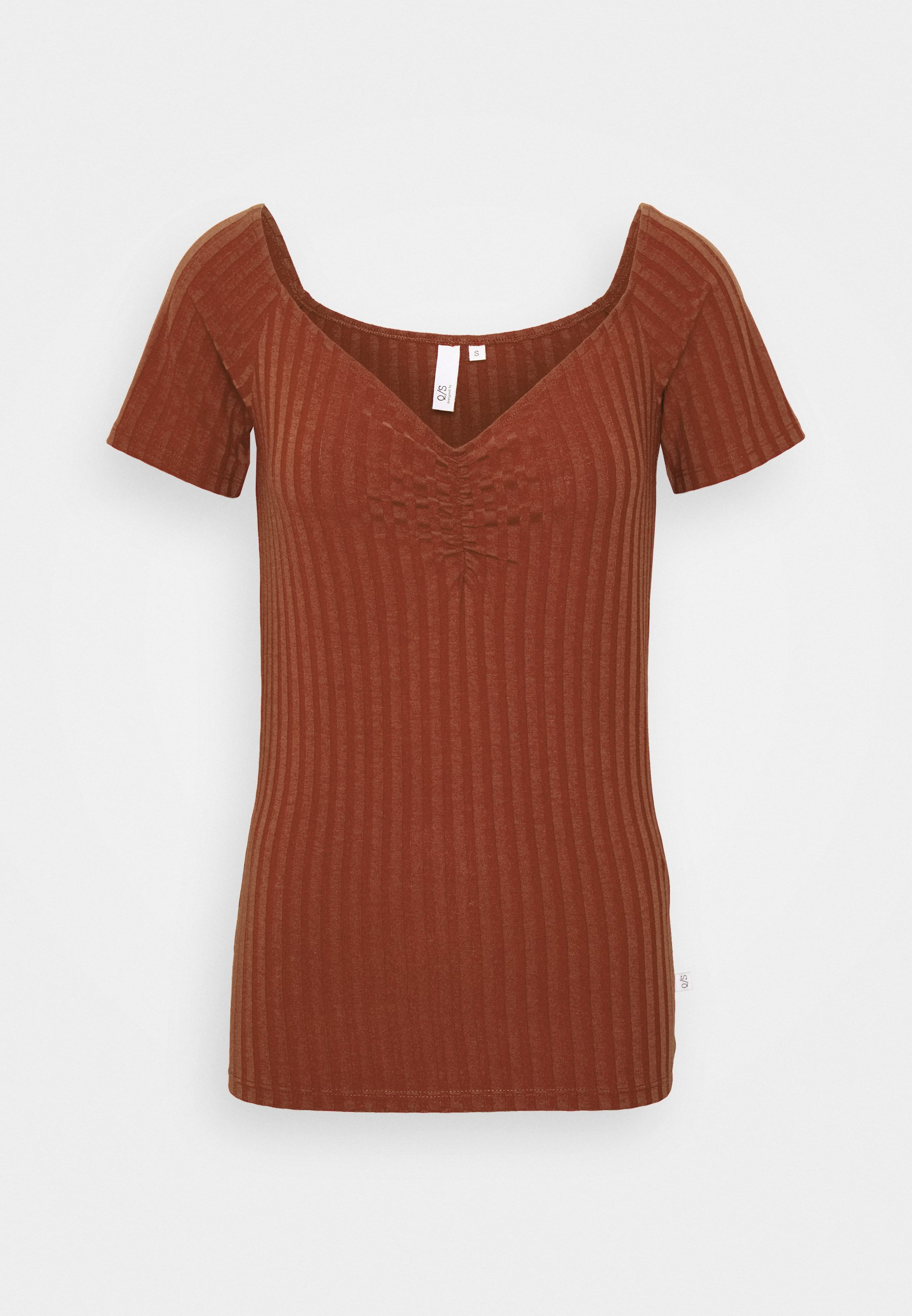 Q/s Designed By T-shirts - Rust/metallic Rød