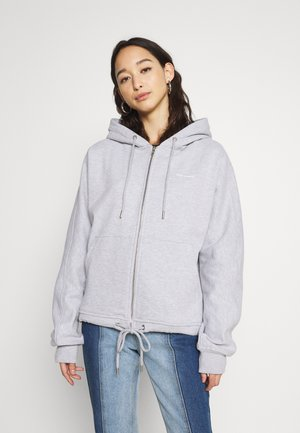 CLASSICLOGOZIPUPHOODIE - Sweater met rits - greymelange
