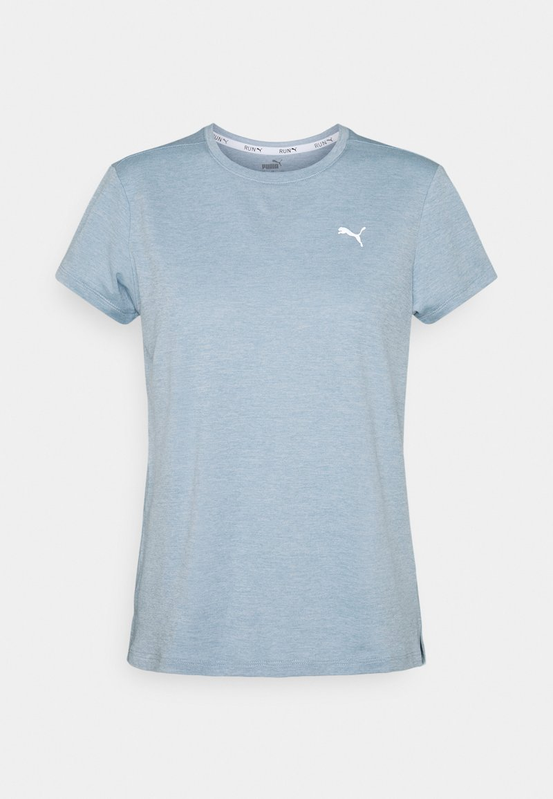 Puma - RUN FAVORITE TEE  - Print T-shirt - blue fog heather